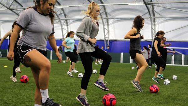O futebol é um medicamento para as mulheres